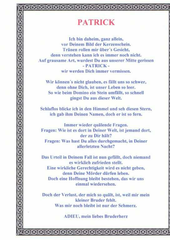 Schwester gedicht lang